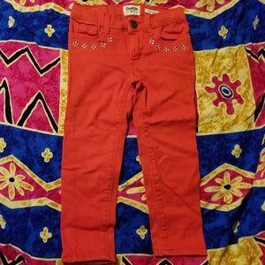 OshKosh Girls Super Skinny Red Jeans 3T Toddler